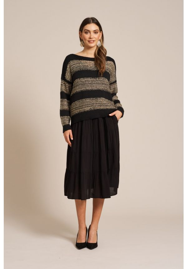 EB & IVE Coco Lurex Knit M/L - Black