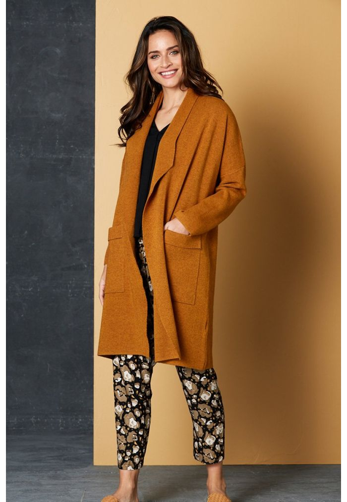 Eb & Ive Mellow Cardigan ONE SIZE - Amber
