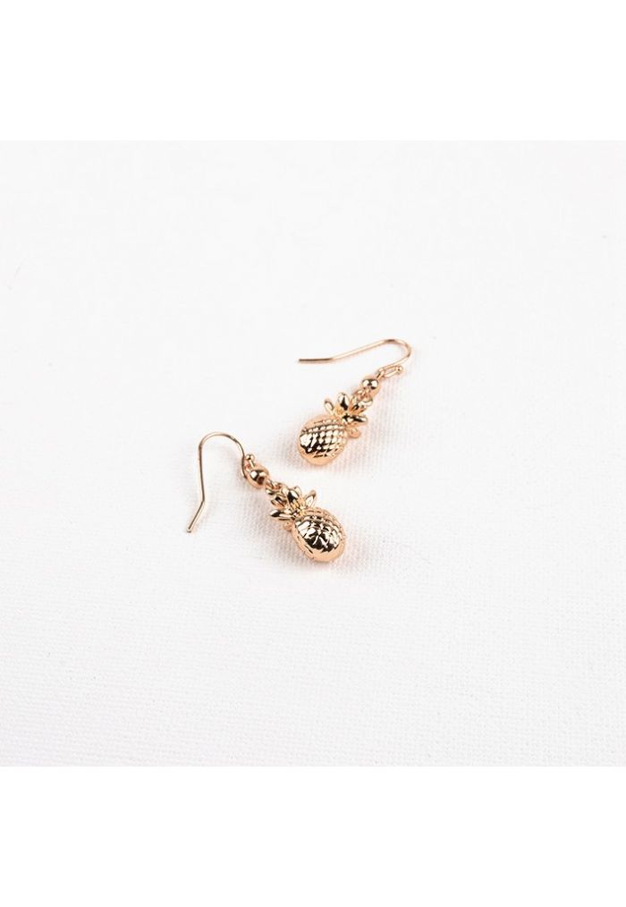 Y001 Mini Pineapple Hook Earrings