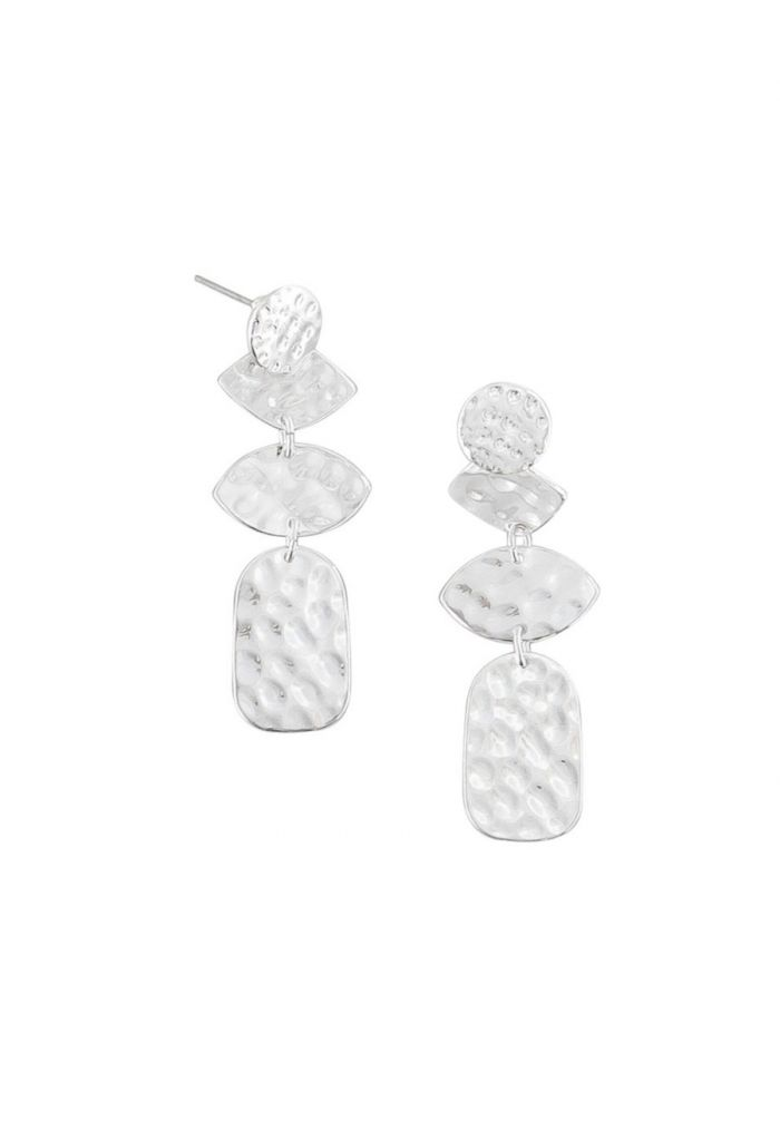 TIGER TREE Silver Mixed Shapes Earrings
