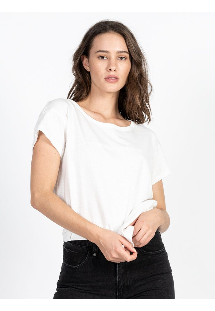 Thrills Dril Boyfriend Tee - Dirty White