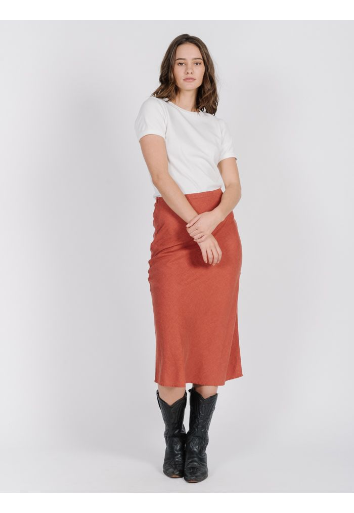 Thrills Primal Hemp Skirt - Rocker Red